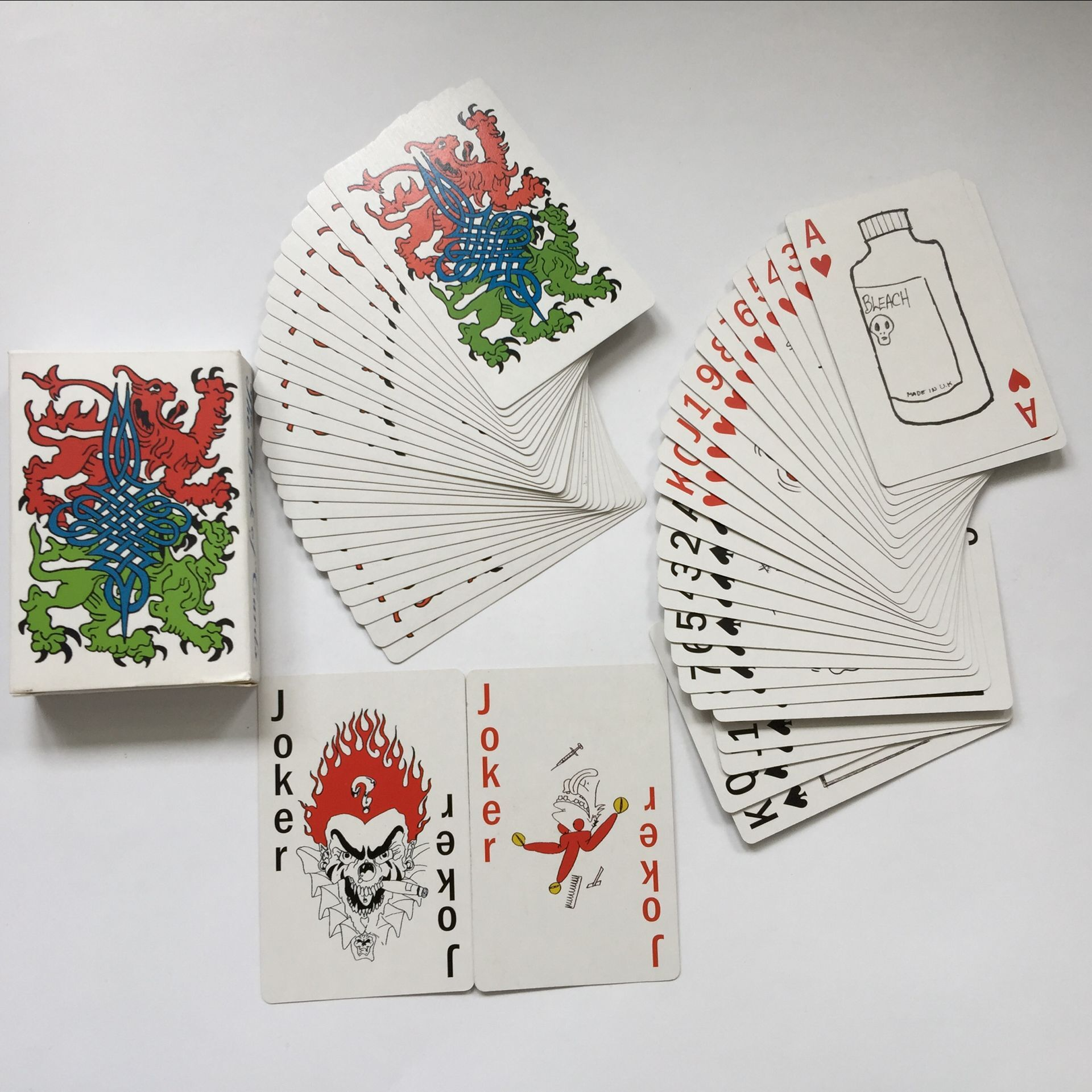 Dragon monster color  printing poker