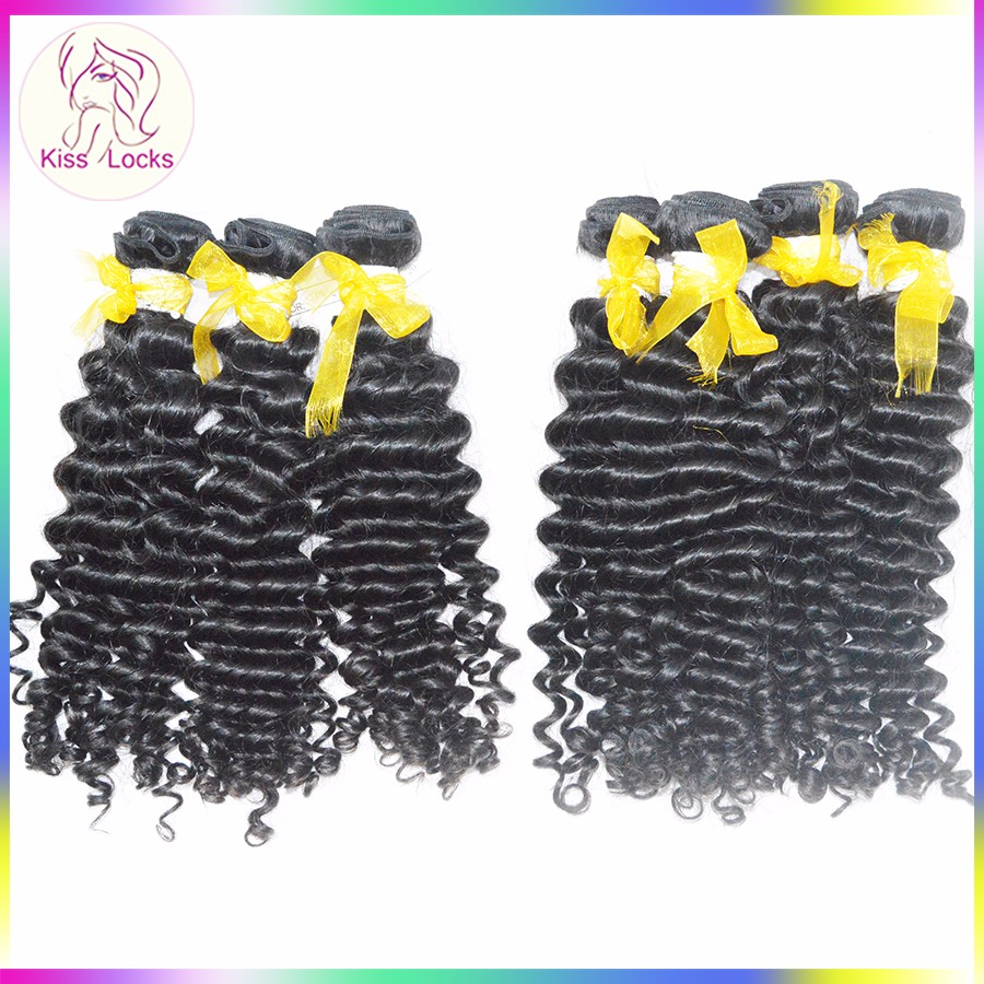 Natural Color Deep Wave Virgin Bundles Cheapest 10A Grade Brazilian Unprocessed Human Hair Fast Shipping фото