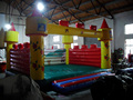 PVC inflatable bounce house outdoor inflatable jumping playground for entertainment with high quality