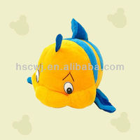cute stuffed plush fish toys soft clown fish toys