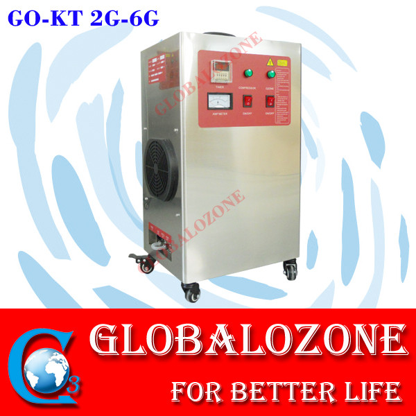 Commercial 30g/h ozone water disinfectant machine for swimming pool /fish pond