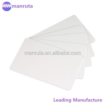 cr80 30mil white blank pvc plastic cards for photo id card printers wholesale online - Blank Plastic Cards