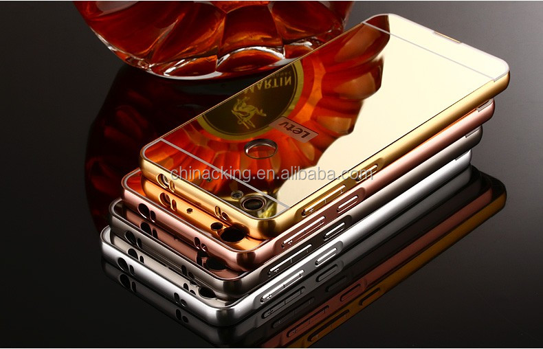 For letv 1s/letv 1s x500 5.5 inch Mirror Plating Metal Aluminum Bumper Frame +Acrylic PC Back 2 in 1 Capa Para Cover Case