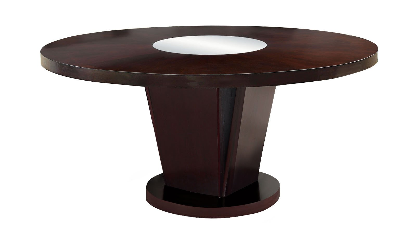 Get Quotations Furniture Of America Telstars Round Dining Table With Lazy Susan Espresso