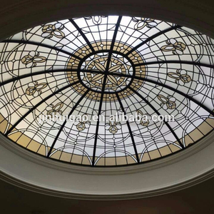 Australia Sydney tiffany glass ceiling Stained glass dome skylight for roof