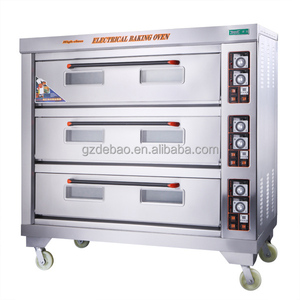 3 Layer 9 Trays Industrial Cake Baking Electric Deck Oven