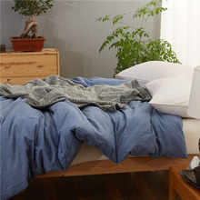Plain pure 아마 linen <span class=keywords><strong>침구</strong></span> sets 인기있는 와 돌 washing, in white, gray color