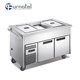 Commercial Stainless Steel Cold Bain Marie 3 GN1/1 Trolley