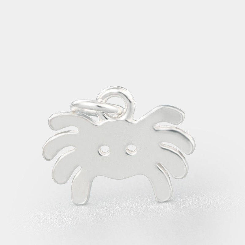 Cute crab nepali natural sterling silver pendant necklace jewellery making