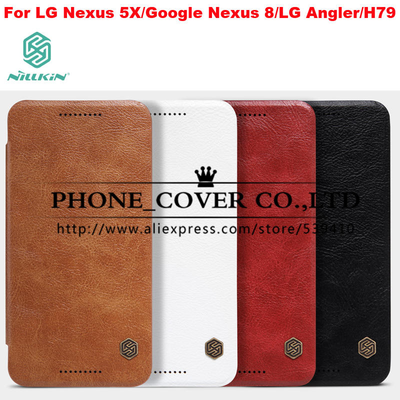 Nillkin Genuine Wallet Leather Case cover For LG Nexus 5X cases for Google Nexus 8 skin for LG Angler H79 bag + screen protector