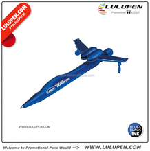Customized Metallic Blue Jet Plane Novelty Pen (T514113) Logo Novelty Pens