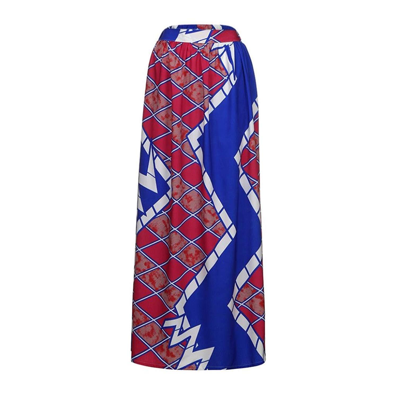 cd205f0b3b Get Quotations · WM & MW Hot Sale! Women High Waist Elastic Vintage Boho African  Print Skirt Party