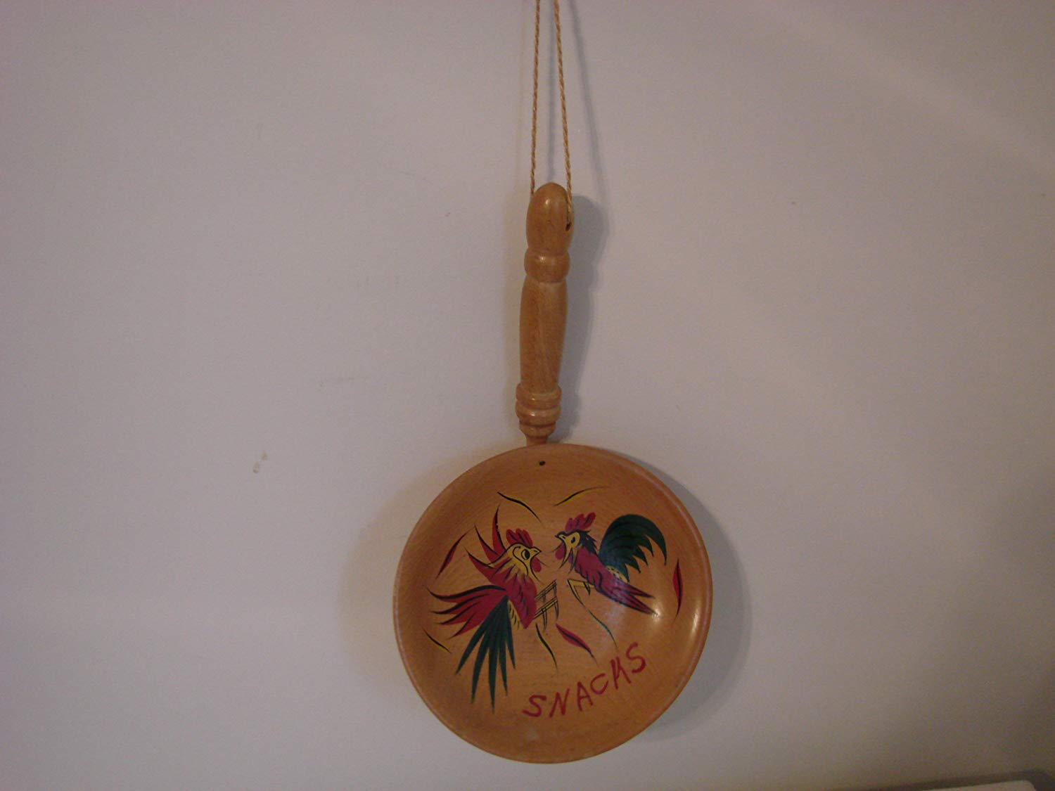 Chicken Rooster Wooden Snack Bowl