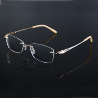 titanium glasses frame diamond rimless stock eyewear new model eyewear frame glasses