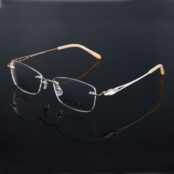 dc53088137 titanium glasses frame diamond rimless stock eyewear new model eyewear  frame glasses