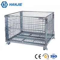 Metal welded galvanized wire mesh container used in cargo storage