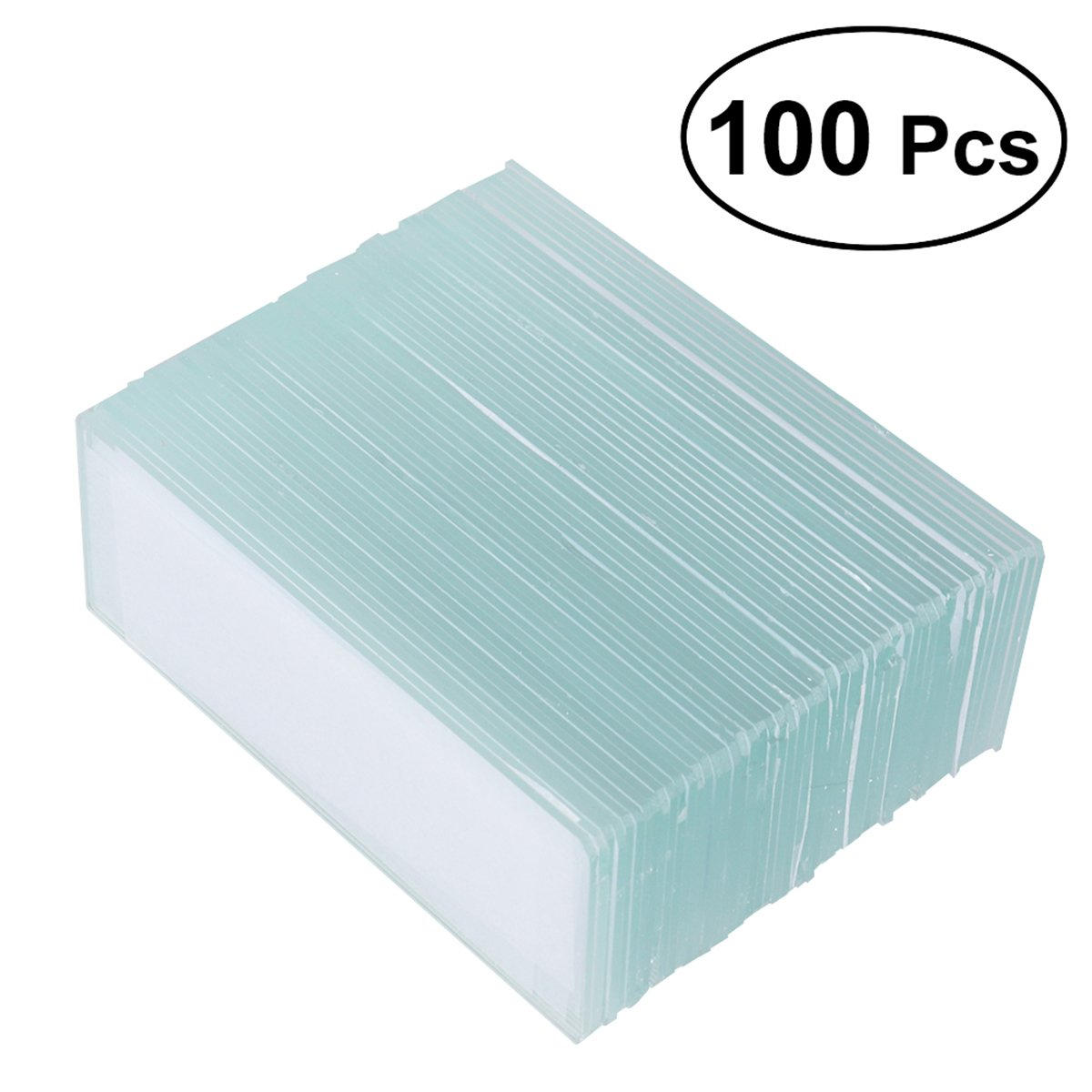 UKCOCO 100 Pieces Microscope Blank Slides 100 Pieces Square Cover Slips Cover Glass