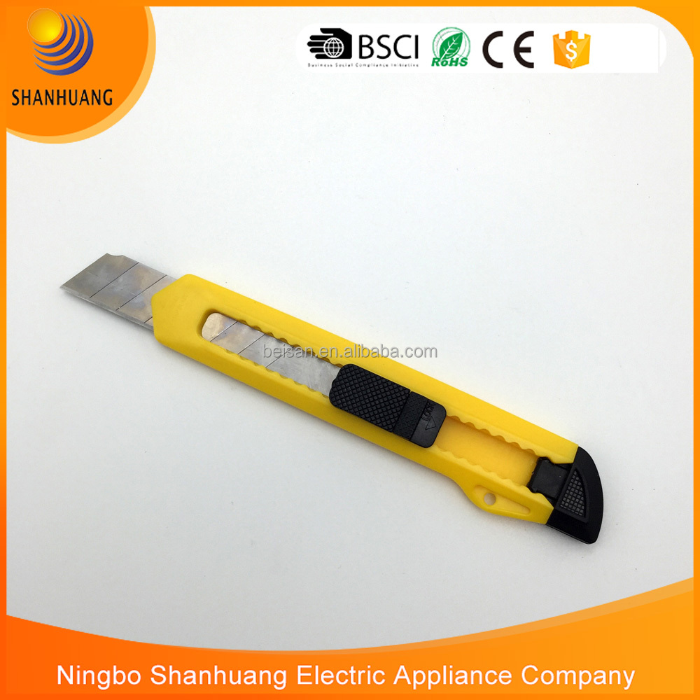 cheap wholesale high quality hand tool 18mm SK5 art knife paper cutter snap off knife