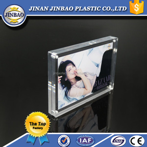 JINBAO wholesale moving 2.5x3.5 picture frame acrylic frameless picture frame