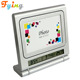 Fying Digital desk table alarm weather station clock with photo frame for desk and table