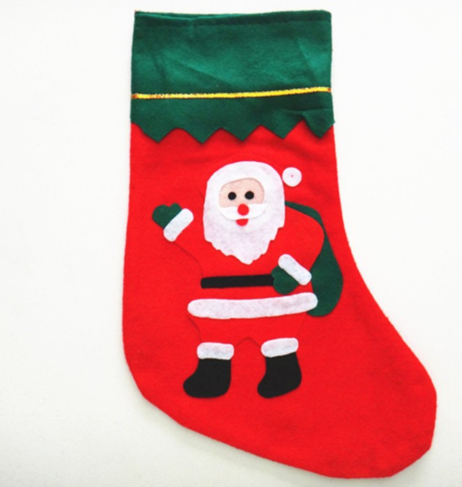 Factory Sale Christmas Decoration stocking Socks Christmas Gift Socks Christmas Tree Decoration Christmas Supplies ,1000pcs/lot