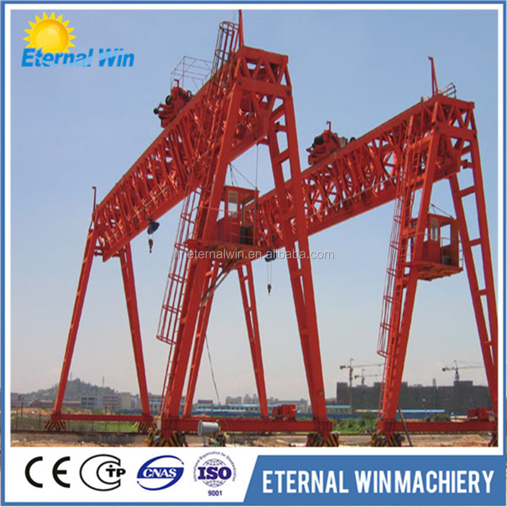 How are gantry cranes constructed and used