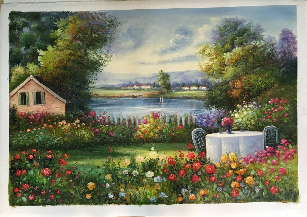 wall <strong>art</strong> painting modern canvas landscape European style for home decoration on canvas oil painting