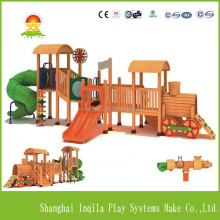 Large wood children slide wood playground