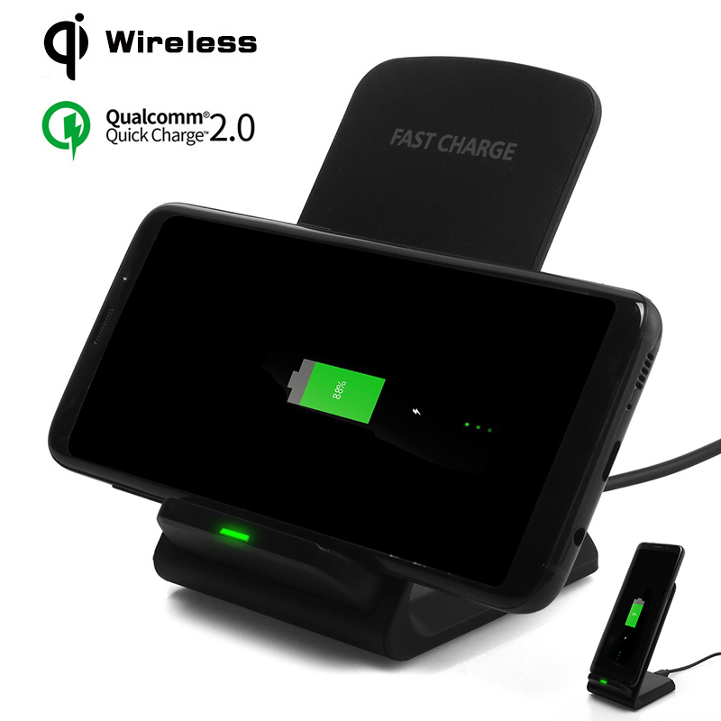 10W fast Wireless Charger For Samsung S8/S8 Plus QI Fast Wireless Charger For iPhone 8 X Quick Charge Stand For Galaxy NOTE 8