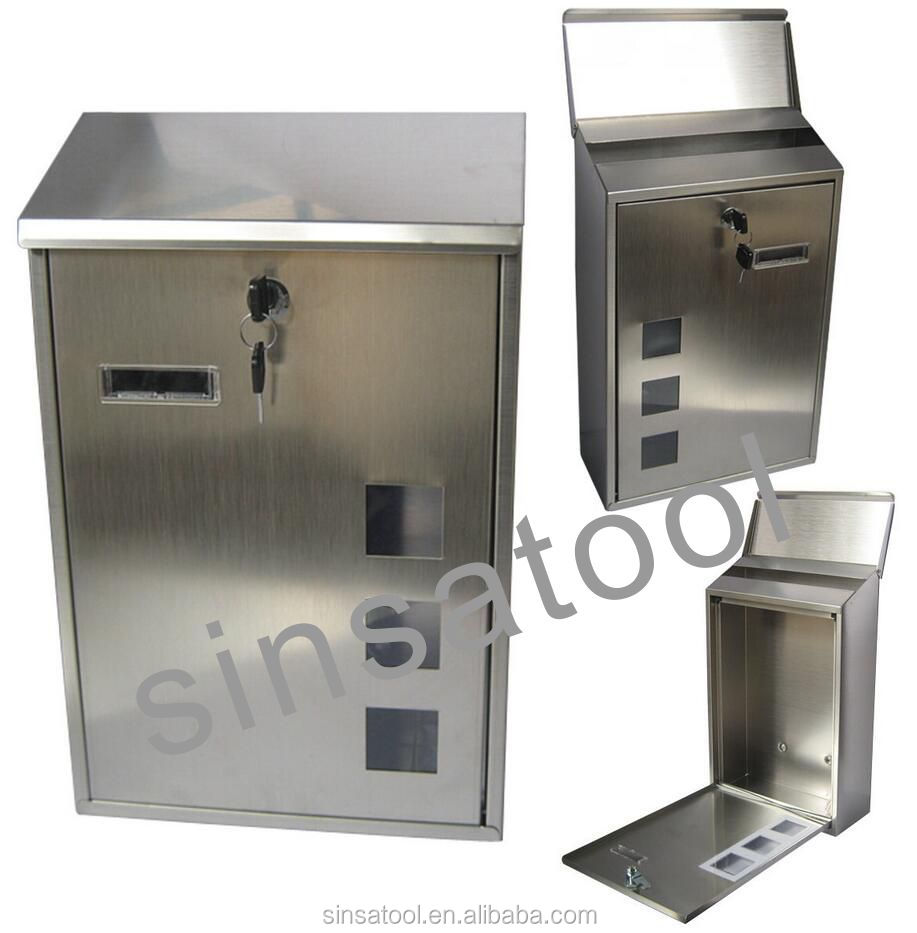 high quality modern stainless steel mailbox