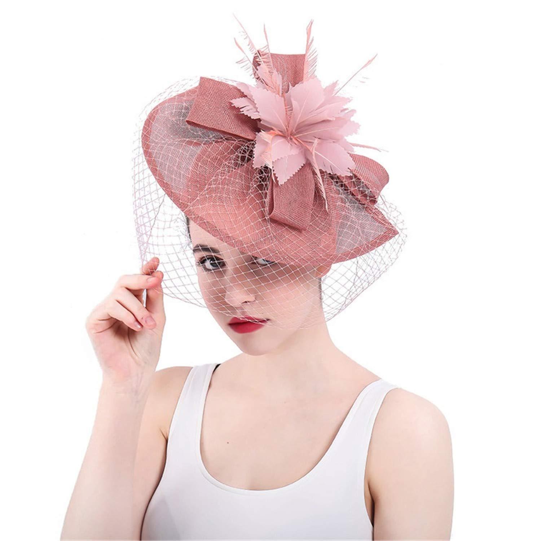 959b4694af711 Get Quotations · Kongsta 2018 Face Veil Wedding and Hats Bridal Hats for  Women Elegant Bridal Decoration Chapeau Femme