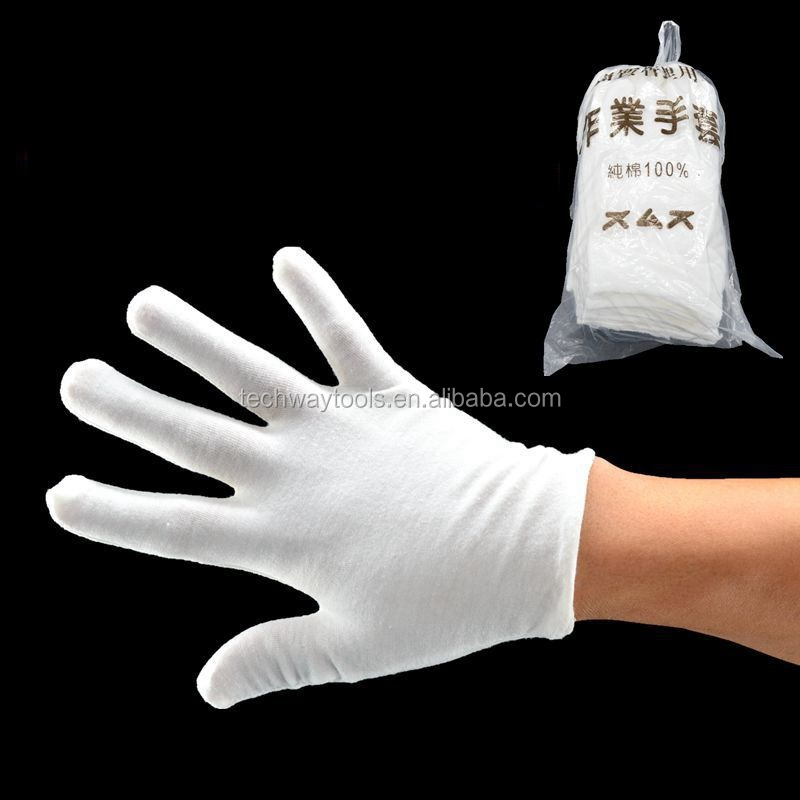 2017 new disposable textile cotton cloth glove