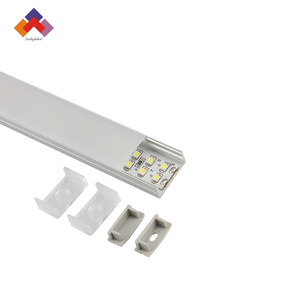 U shape LED aluminum channel + PC cover for SMD flexible strips
