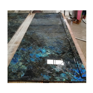 Australe Labradorite Lemurian Blue Granite Countertops on bar