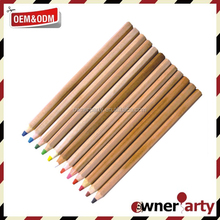 natural wood color pencil set with customized packing for Amazon