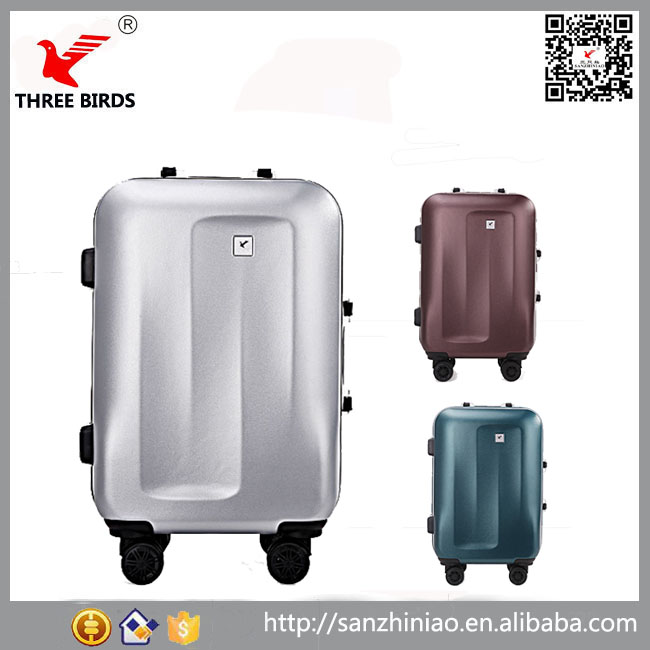China supplier boarding aluminum frame suitcase hard shell abs spinner carry on suitcase