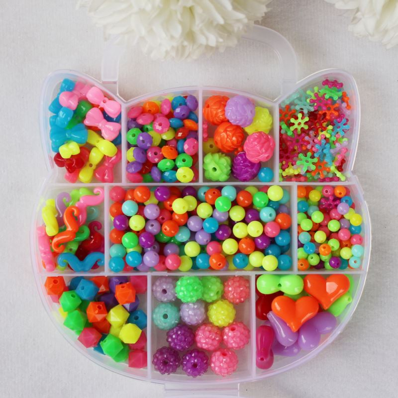 jewelry box/Diy craft child's bead fun toys bead box fashion online DIY craft beads