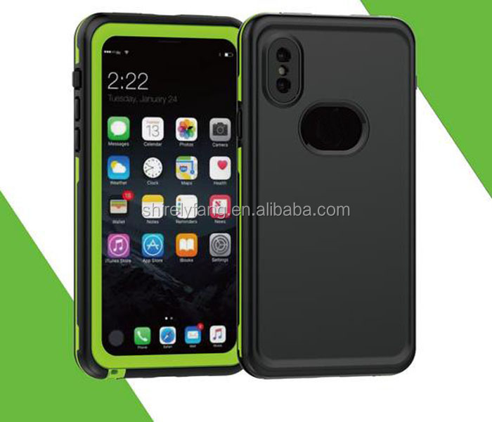 Wave series waterproof case for iPhone 8 with soft TPU cover