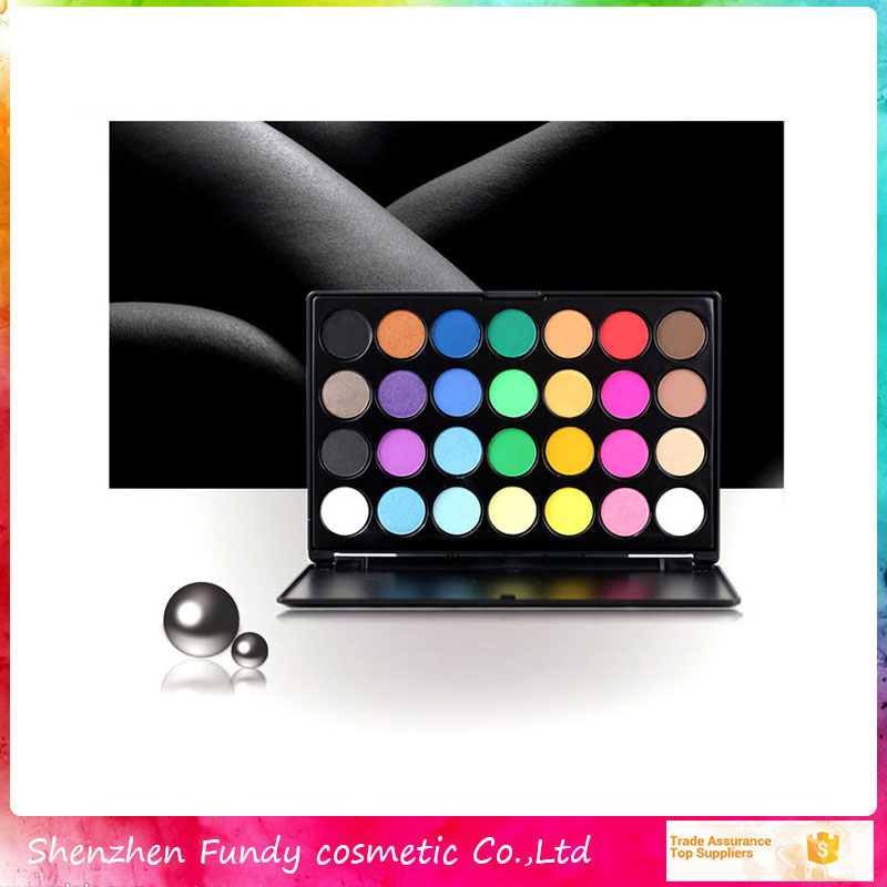 Wholesale hot sale 28 color mineral eyeshadow palette no name makeup