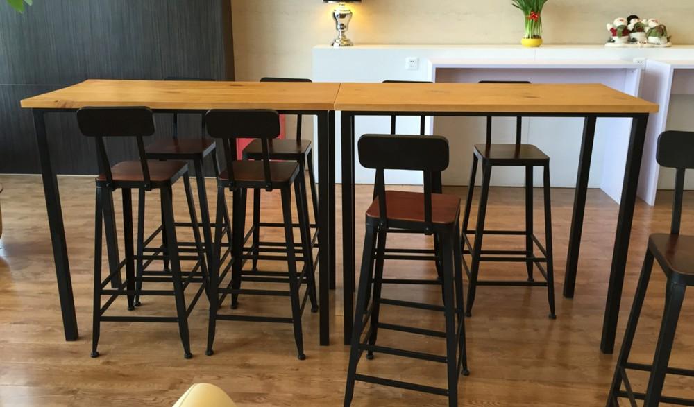 american iron loft high bar tables long table dining table starbucks starbucks coffee bar retro. Black Bedroom Furniture Sets. Home Design Ideas