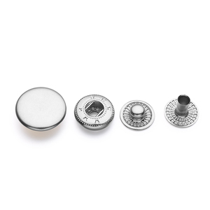 Round Lead Free Nickel Free Brass Metal Snap Button Fastener For Clothing