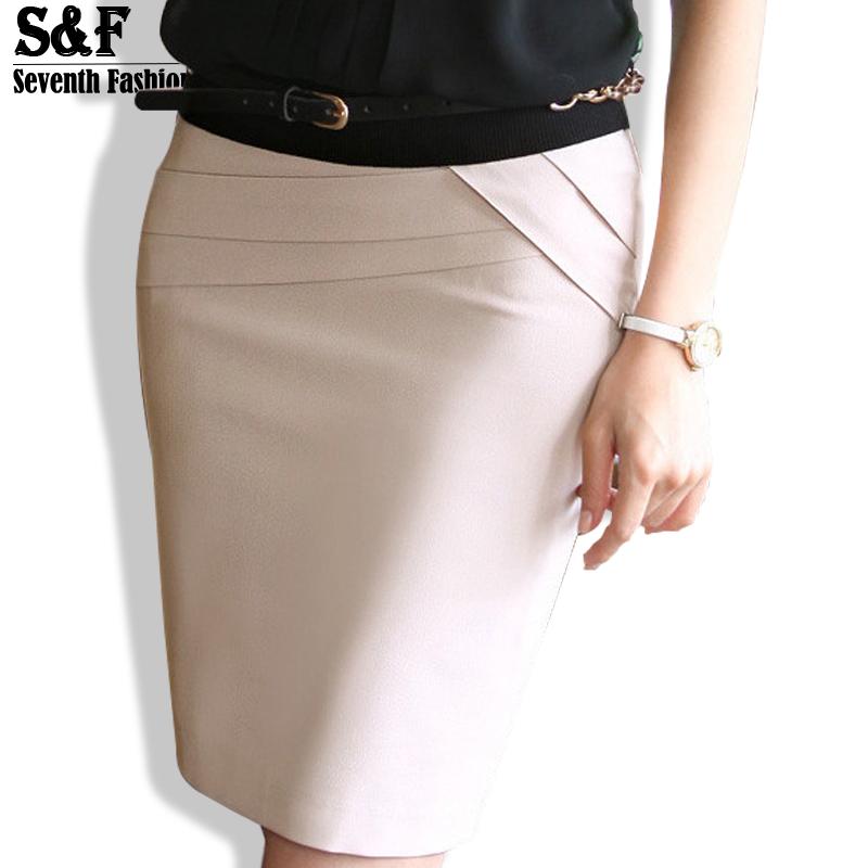 5475fac7e0d Get Quotations · 2015 Autumn Summer Women Career Short Formal Skirts Ladies  Sexy High Waist Knee-Length Pencil