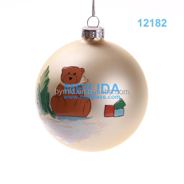 high quality Hand- painted christmas glass ball from china