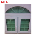 Interior sliding casement window pvc arch windows with grills design