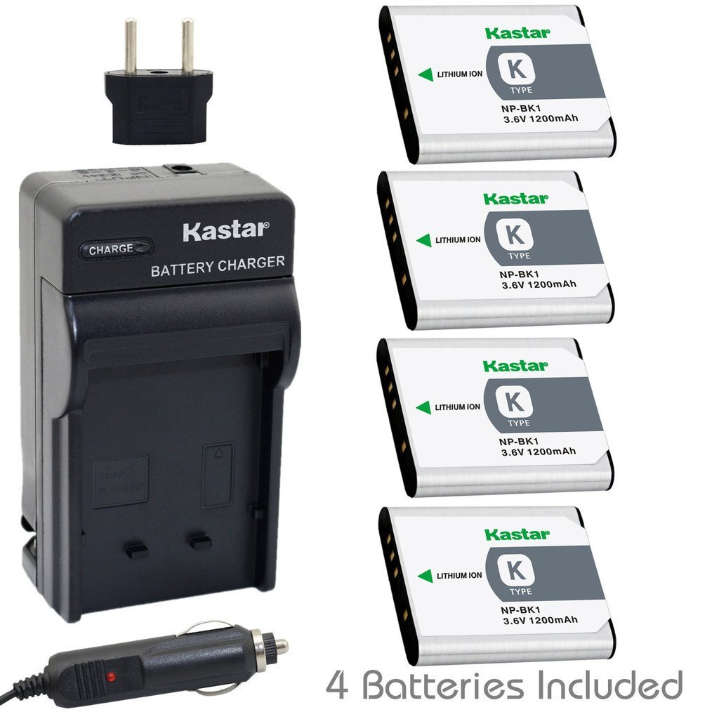 Get Quotations · Kastar Battery (4-Pack) and Charger Kit for Sony NP-BK1,