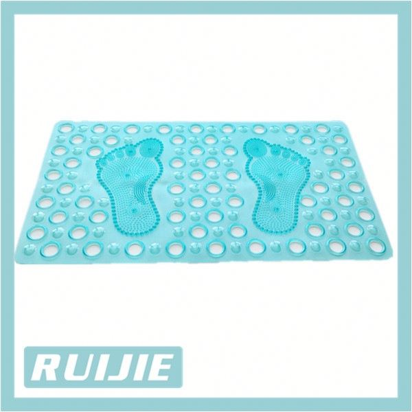 100% PVC cartoon foot shape toilet floor Bath mat /shower mat for kids
