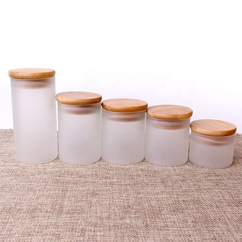 4oz Glass jar kitchen use clear glass storage jar with bamboo lid borosilicate glass canister