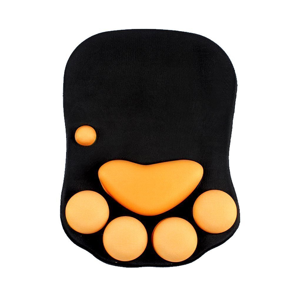 GXG-1987 Cute Cat Paw Style Soft Silicone Wrist Cushion Computer Mouse Pad Mat Wrist Rest Desk Decor