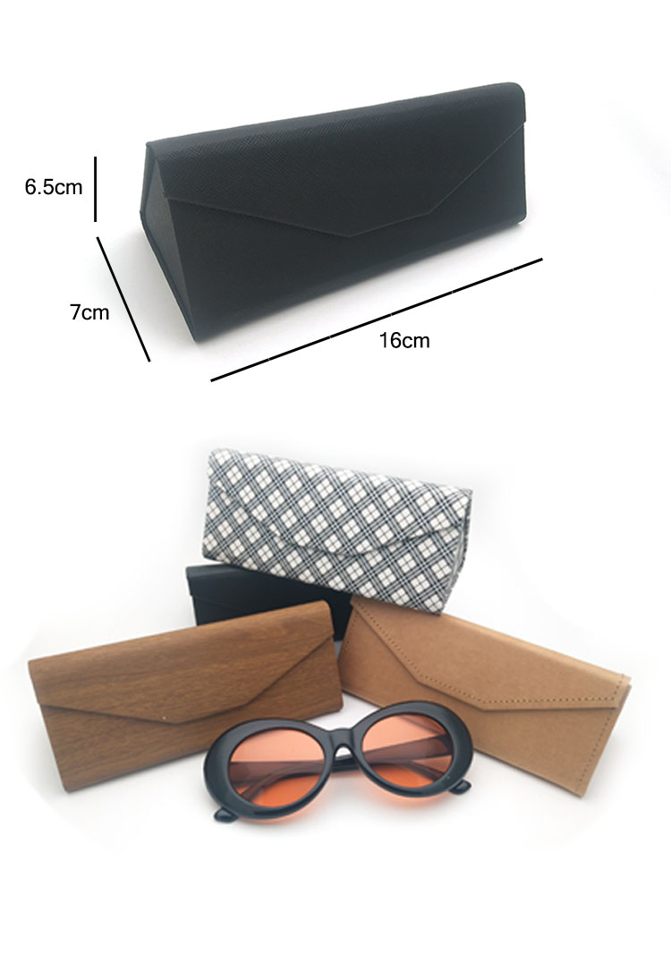 Portable Flat Folding Eyewear Packaging Box Sunglasses case floding printing brand your custom logo 2019 new arrival