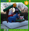 best sale Happy new year props inflatable happy family with house for christmas garden decortion